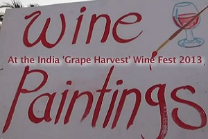 'Wine Paintings' at Nashik Wine Fest 2013