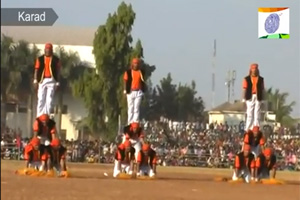 Gymnastics - A performance by Jawans